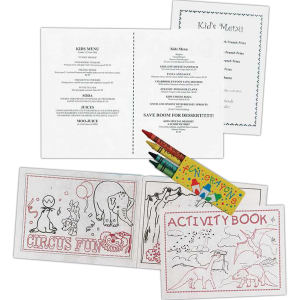 Stock Coloring/Activity Books. Printed