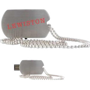 Promotional Dog Tags-Lewiston-2GB