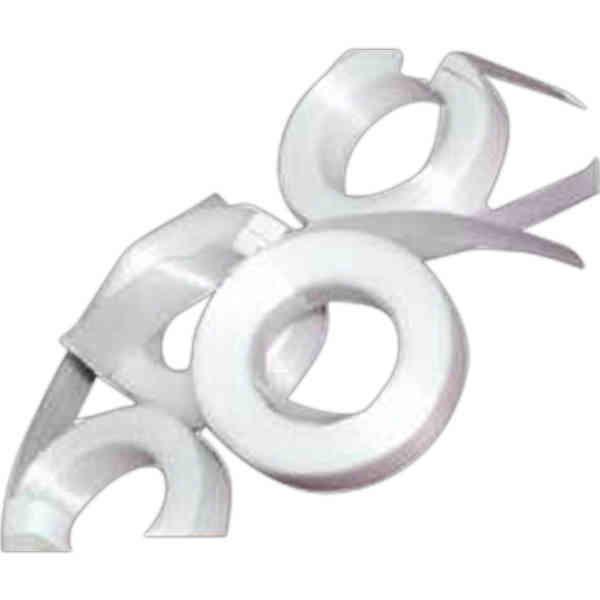 White cut ribbon. Balloon