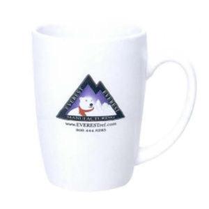 White ceramic mug that