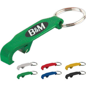 Beverage opener key ring,