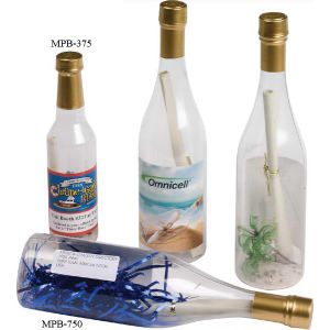 Mailable plastic wine bottles