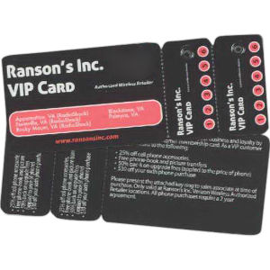 Promotional ID/Loyalty Cards-W-1318