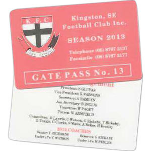 Heavy Laminated Membership Card.