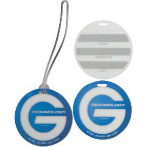 Round luggage Tag.