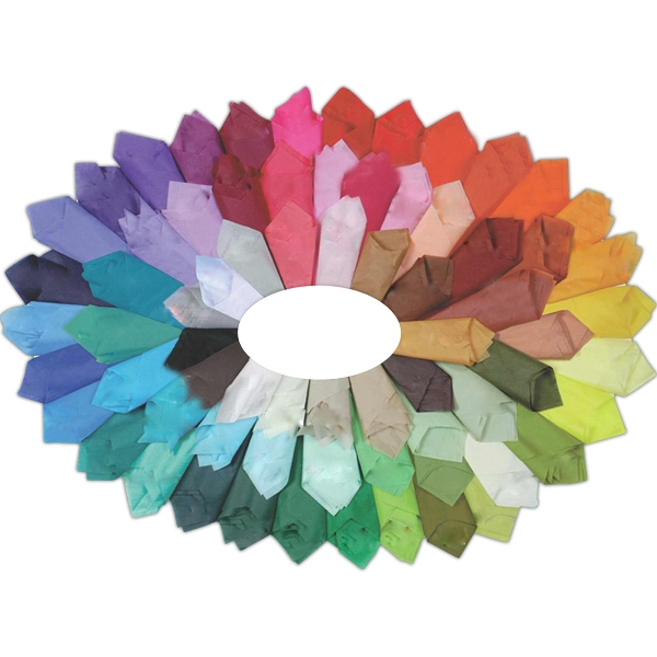 Non-metallic deep-colored tissue paper,