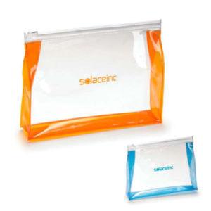 Transparent toiletry bag. Made