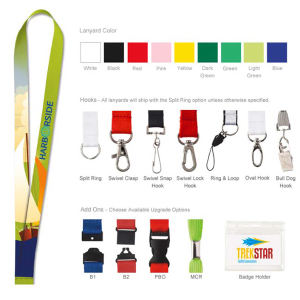 Polyester lanyard (4-color process).