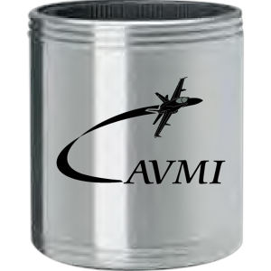 Stainless steel can cooler.
