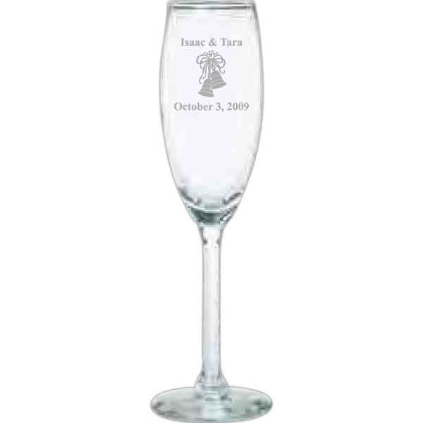 Clear wine glass with