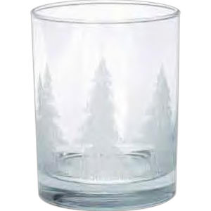 Clear glass tumbler with