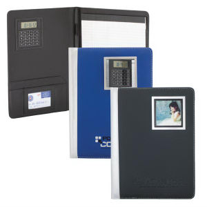 Simulated leather padfolio with