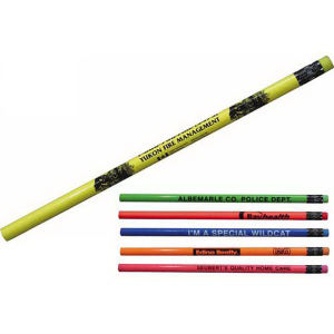 Fluorescent wood pencil, with