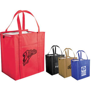 Non-woven insulated bag.