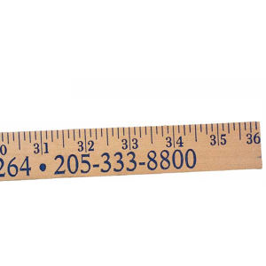 Natural finish heavy-duty yardstick