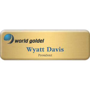 Metal aluminum name badge
