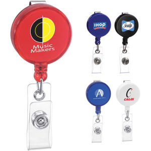 Round badge holder with
