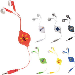 Retractable earbuds.