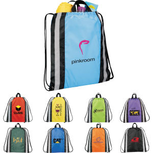 Small reflective drawstring backpack