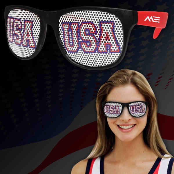 Plastic billboard sunglasses with
