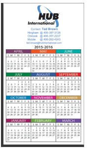 Promotional Magnetic Calendars-W-M353