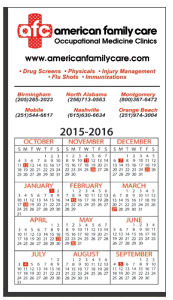 Promotional Magnetic Calendars-W-M590