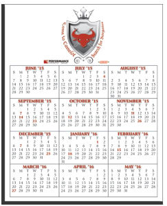 Promotional Magnetic Calendars-W-M810