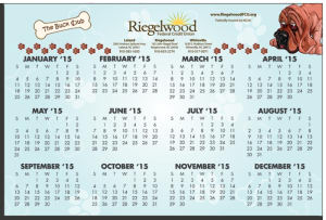 Calendar Card with Repositionable