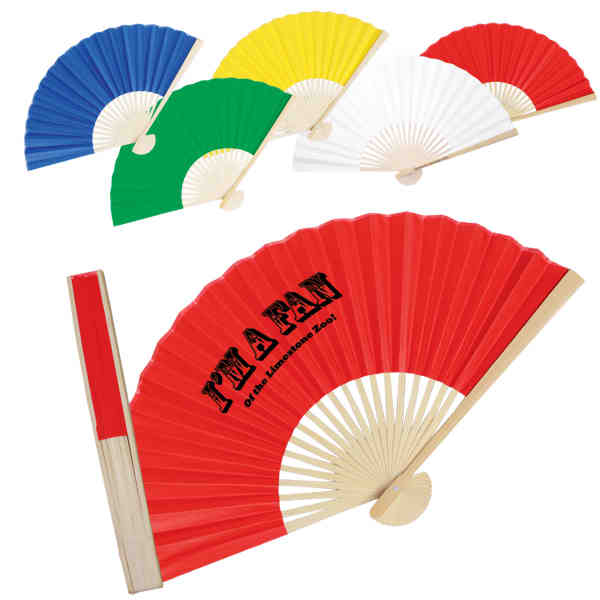 Folding fan crafted with