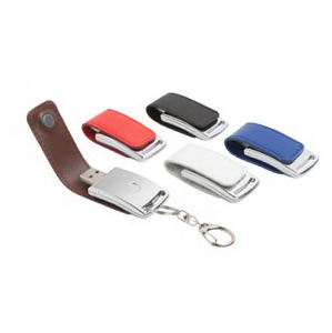 Promotional Leather Key Tags-FD-107-8GB