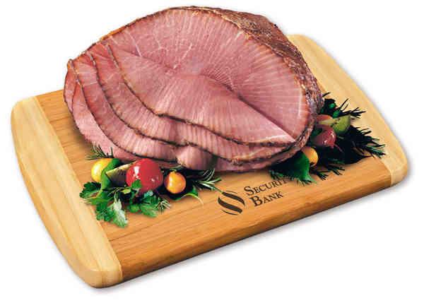 spiral-sliced half ham with