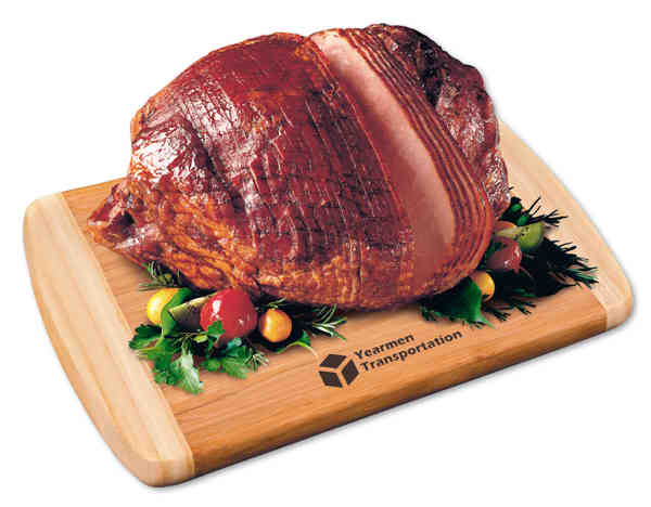 spiral-sliced whole ham with