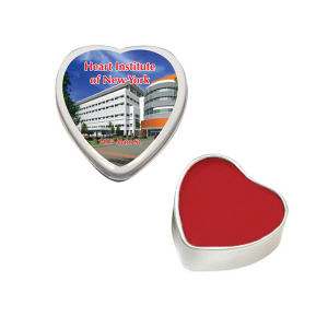 Heart tin with lip