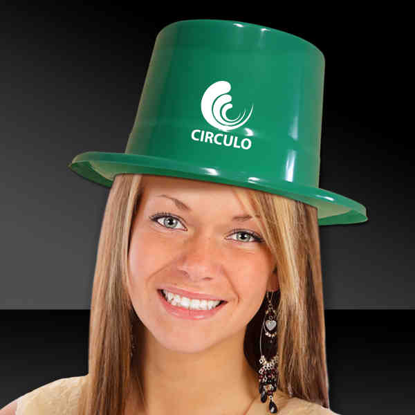 Green top hat made