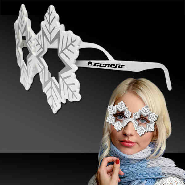 White sunglasses with snowflake