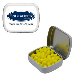 Small white mint tin