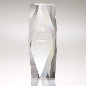 Large crystal tower award.