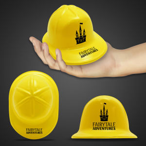 Miniature yellow construction hat