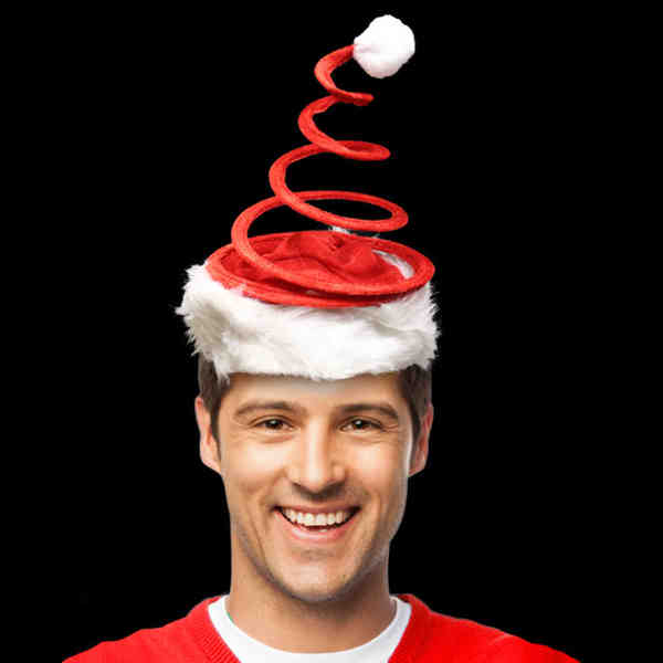 Santa hat topped with