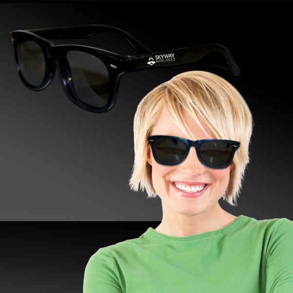 Classic black sunglasses with