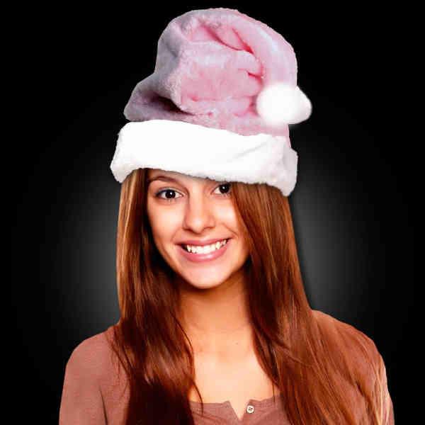 Pink plush Mrs. Claus