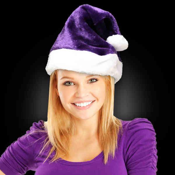 Purple plush Santa Claus