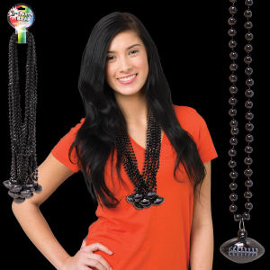 Black mardi Gras beads