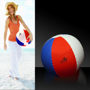Inflatable patriotic beach ball.