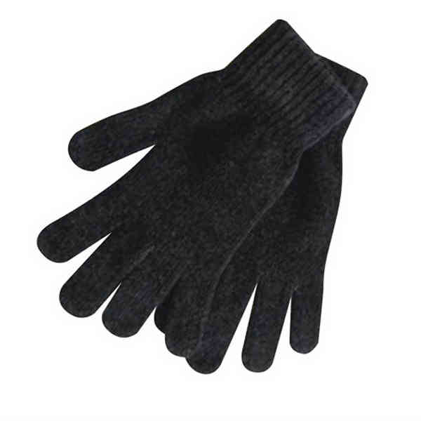 Black chenille men's glove.