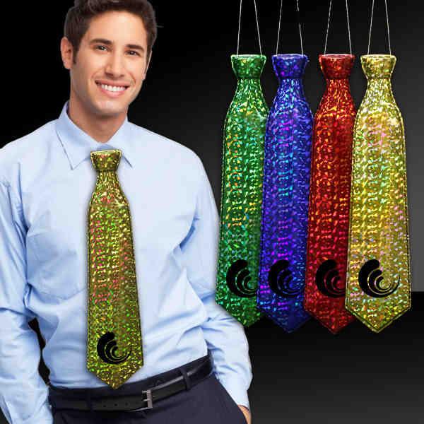 Plastic prismatic neck tie