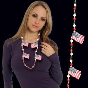 USA flag beaded mardi