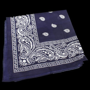 Blue cotton bandana, 22