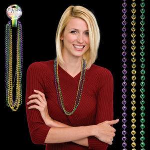 Round bead Mardi Gras