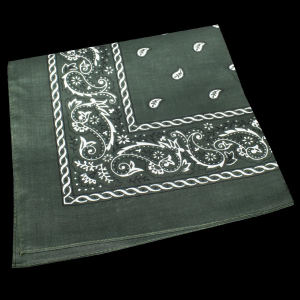 Green cotton bandana, 22